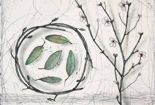 foglie-in-cerchio-di-rami