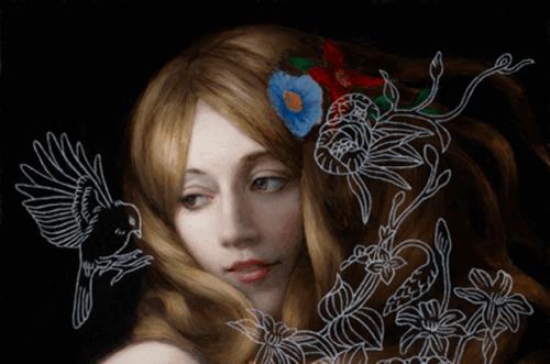 ragazza-con-fiori-disegnati