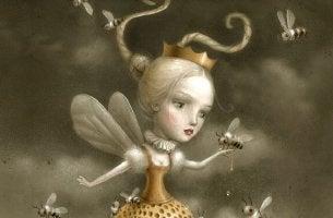 regina-con-api arrabbiarsi