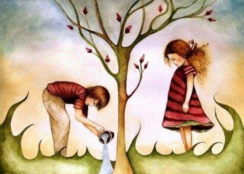 bambini-albero