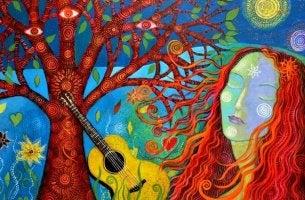 donna-chitarra-albero momenti