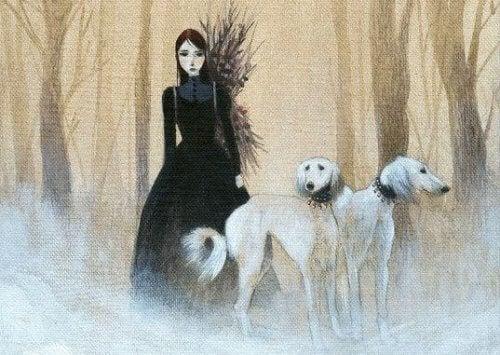 donna-con-cani
