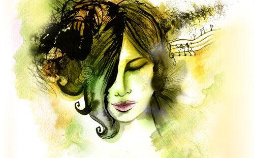 Accese la musica per prendersi una pausa dalla sua vita