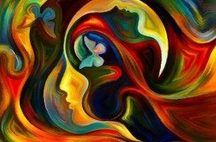 mente profilo-donna-colori-e-farfalle