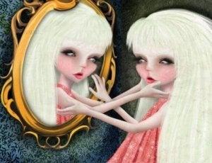 ragazza-tocca-la-sua-immagine-allo-specchio