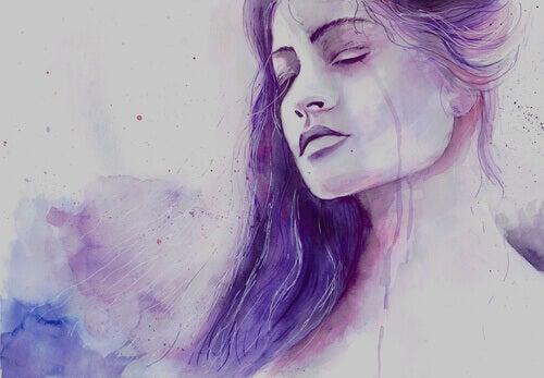 donna riconosce tristezza