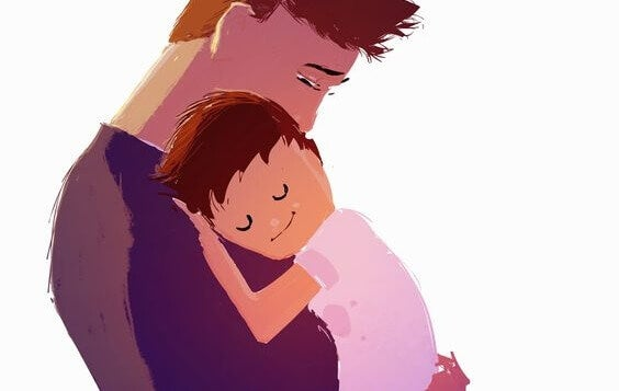 papà con bambino