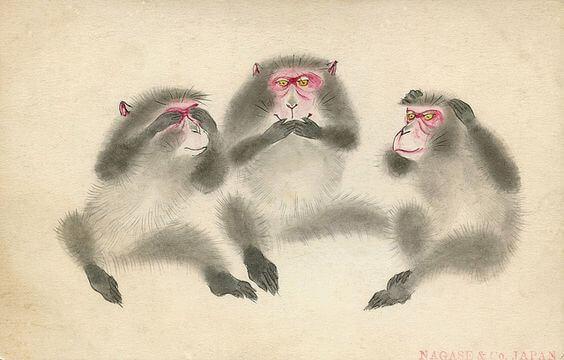 L'insegnamento delle tre sagge scimmie del santuario di Toshogu