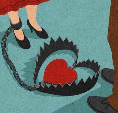 Donna incatenata perché soffre di disturbo dipendente di personalità