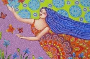 Donna colorata farfalle la mia abbondanza