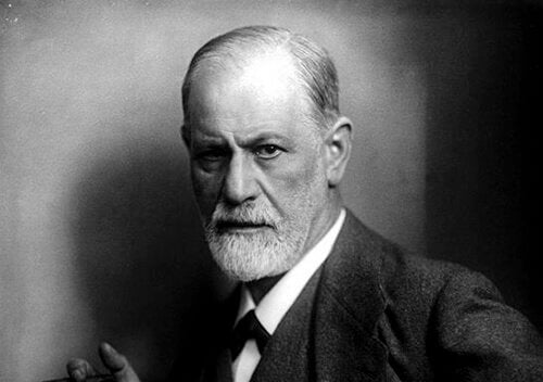 Foto in bianco e nero di Freud