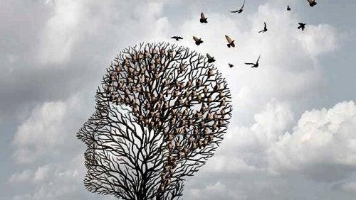 Albero a forma di testa mia figlia ha l'Alzheimer