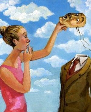 donna con maschera
