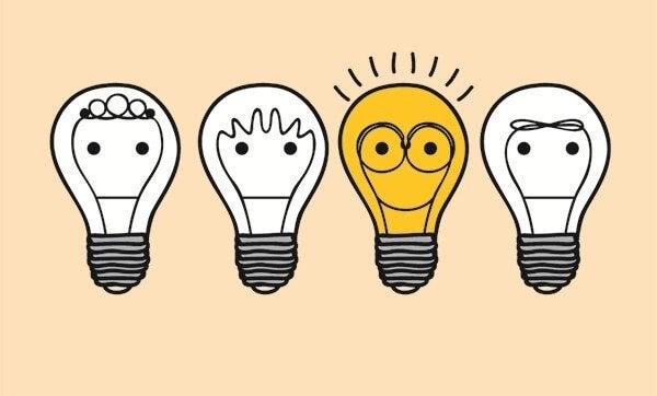 Persona illuminata dalla psicologia positiva