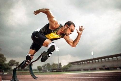 la resilienza nello sport di un atleta senza gambe