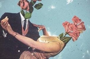 Relazione di coppia con fiori in testa balla