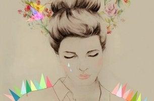Donna triste per un amore impossibile