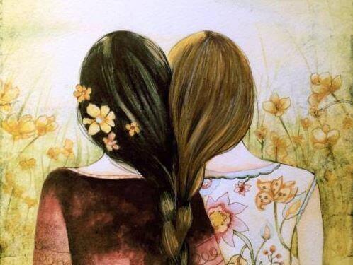 Sorelle unite attraverso i capelli