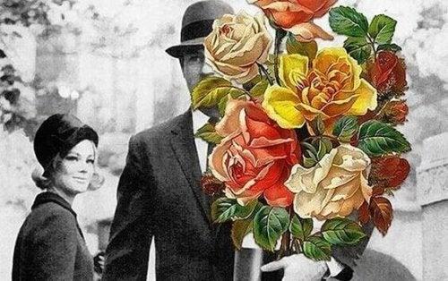 Uomo porta fiori