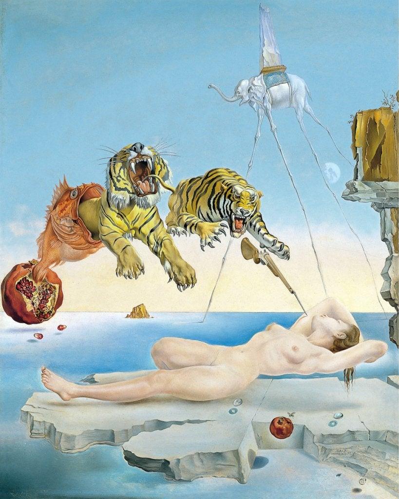 Dipinto di Dalí sogno causato dal volo di un'ape