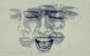 Viso che esprime emozioni