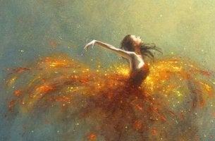 Ballerina che sa attrarre la magia