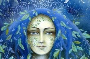 Donna con i capelli azzurri e la dignità