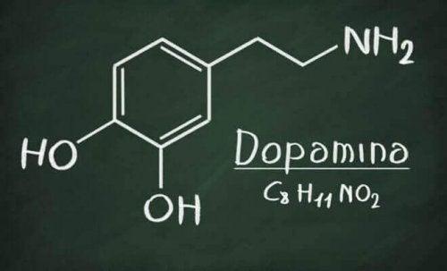 Formula chimica della dopamina