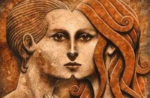 Due profili che formano un volto archetipo dell'ombra