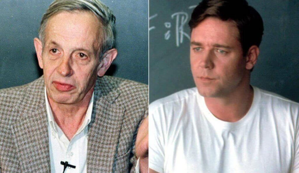 John Nash e l'attore Russell Crowe