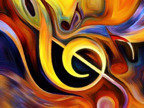 Chiave di violino e colori