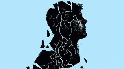 Profilo frammentato di un uomo