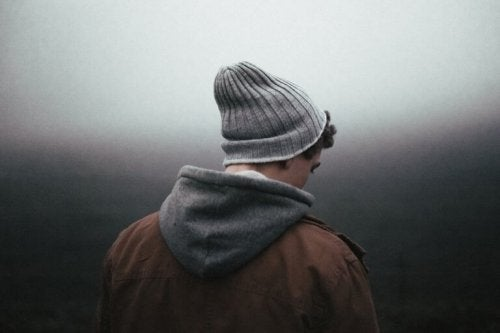 Ragazzo che soffre di depressione resistente