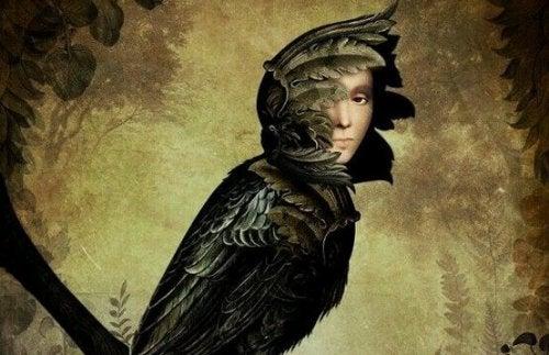 Uccello dal volto umano