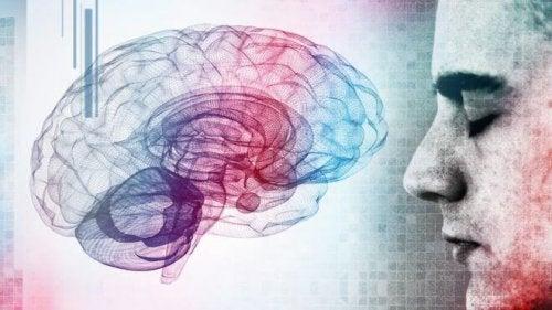 Un uomo davanti a un cervello