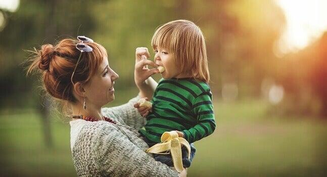 Mamma con il figlio