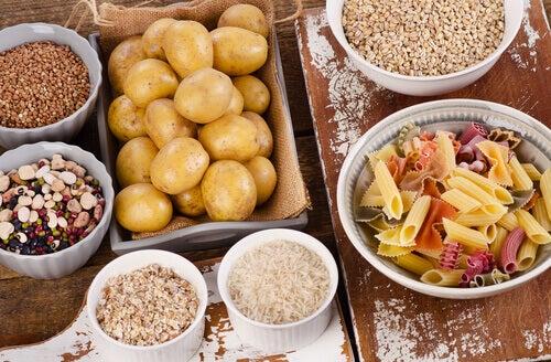 Patate, cereali e pasta