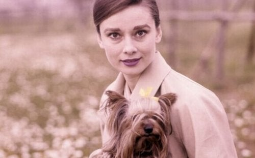 Audrey Hepburn con il suo cane