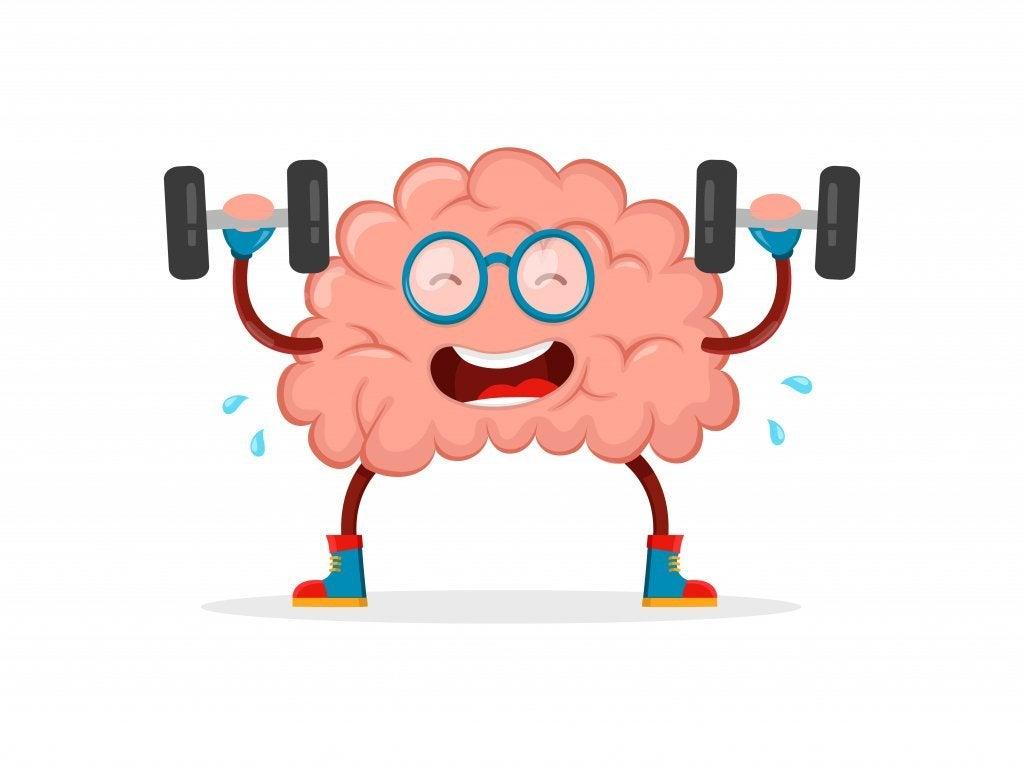 Cervello che fa ginnastica