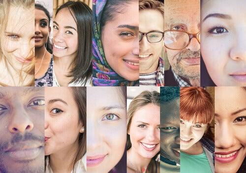 Collage con foto di persone di varie etnie