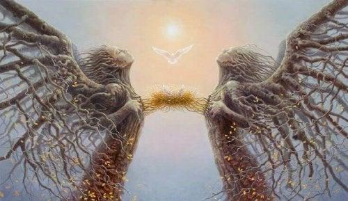 coppia connessa da un nido