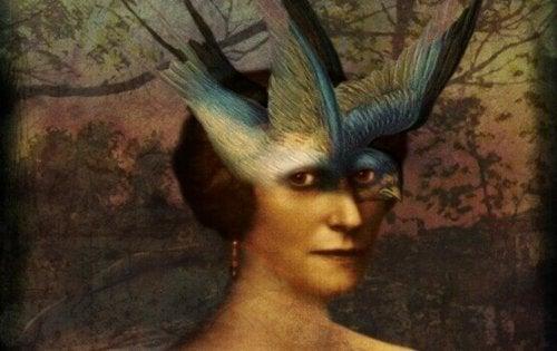Illustrazione di una donna che rappresenta il ladro che pensa che tutti rubino