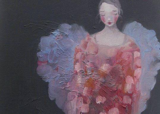 Dipinto di donna triste