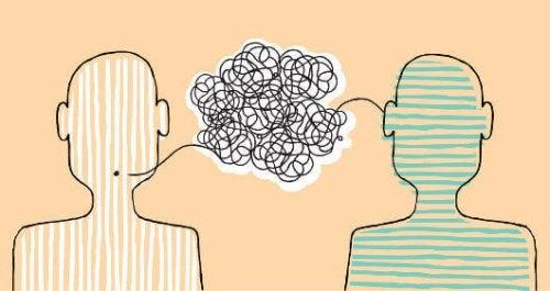 Illustrazione di due persone che parlano