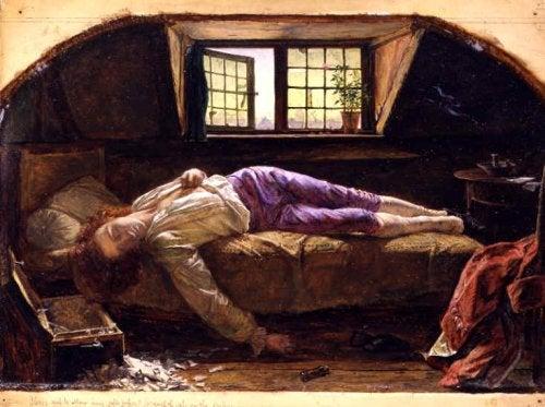 Il giovane Werther morto sul letto