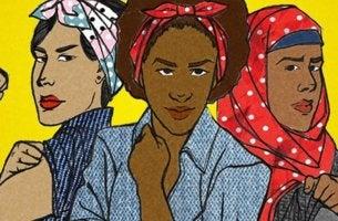 Tre donne che rappresentano i tipi di femminismo
