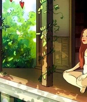 Ragazza che medita: parlare da soli