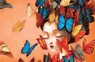 Bambina con farfalle sul volto il decalogo dell'amore
