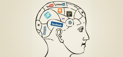 Cervello con social network