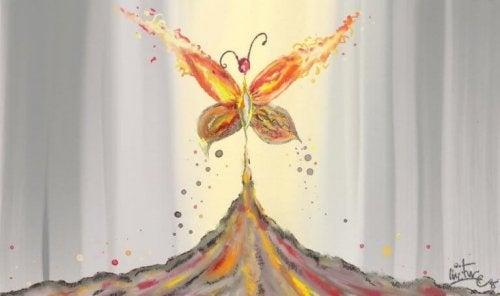 Farfalla che simboleggia la vita
